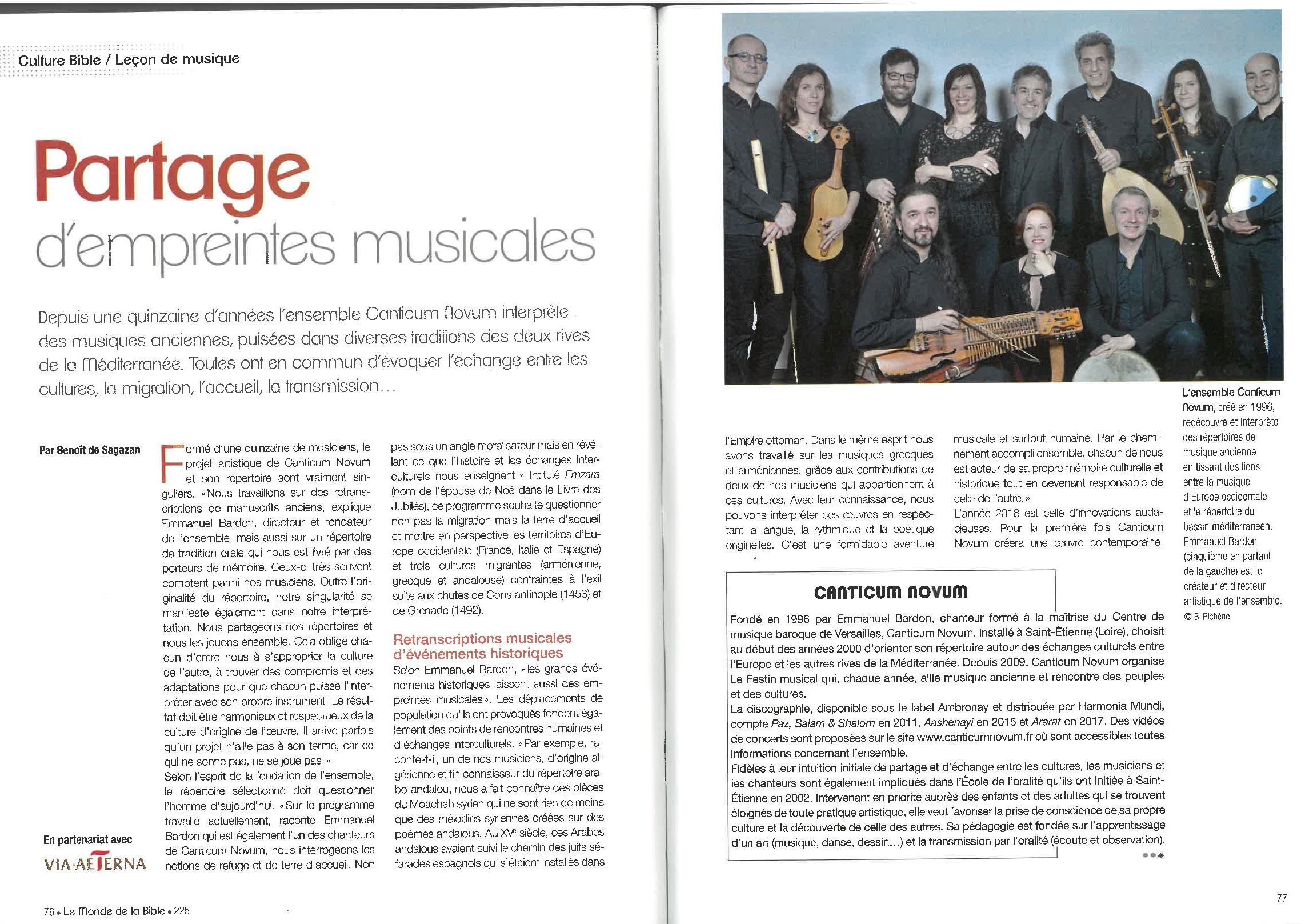 Nouvel article dans Culture Bible !